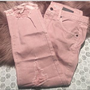 Mossimo Supply Co. Jeans - Mossimo Cropped Boyfriend Distressed Jeans